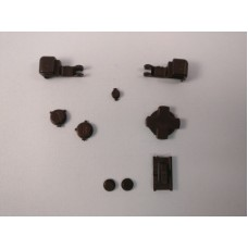 Game Boy Advance SP GBA SP - Set Of Black Buttons And Triggers