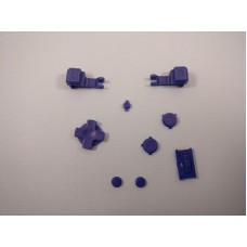 Game Boy Advance SP GBA SP - Set Of Dark Blue Buttons And Triggers