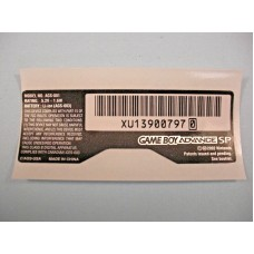 GBA SP AGS-001 Replacement Sticker Label