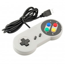 SNES USB Controller - Wired USB Super Nintendo Controller PC/Mac